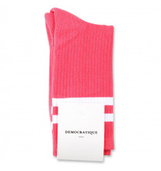 Democratique Socks Classique Oldschool Stripes 6-pack Watermelon / Clear White