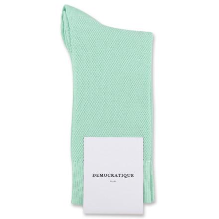 Democratique Socks Originals Champagne Pique Pale Green