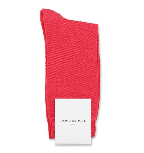 Democratique Socks Originals Champagne Pique Spring Red 6-pack