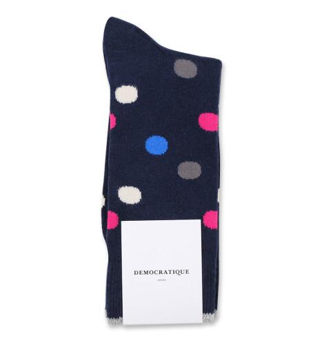 Democratique Socks Originals DotCom 6-pack Navy - Adams Blue - Puplish Pink - Warm Grey - Off White