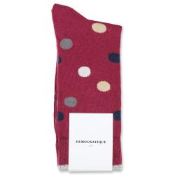 Democratique Socks Originals DotCom 6-pack Red Wine - Casual Sand - Navy - Warm Grey - Off White