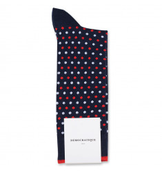 Originals Polkadot Navy/Spring Red/Clear White 6-pack