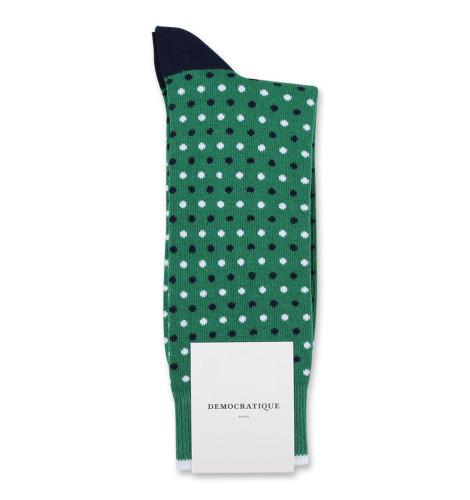 Democratique Socks Originals Polkadot Tennis Green/Navy/Clear White 6-pack