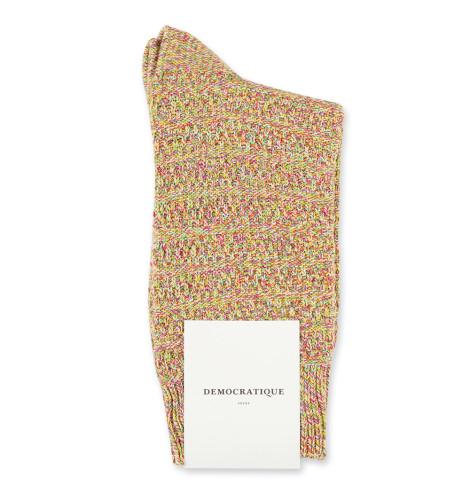 Relax Slub Knit Supermelange Purplish Pink/Tennis Green/Dominant Yellow/Clear White 6-pack