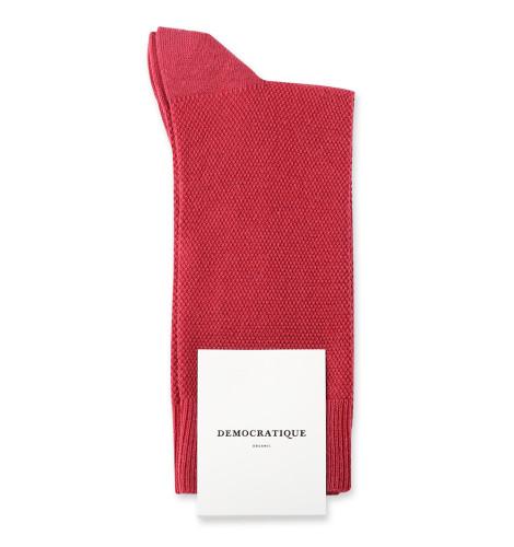 Democratique Socks Originals Champagne Pique 6-pack Light Rosso