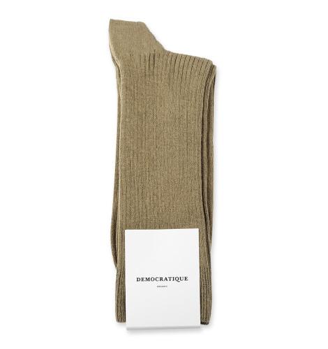 Democratique Socks Originals Fine Rib 6-pack Soil