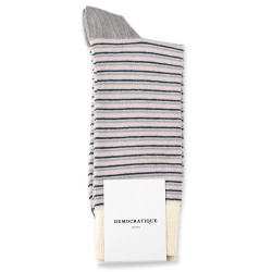 Democratique Socks Originals Ultralight Stripes 6-pack Soft Grey / Stone / Shaded Blue / Pale Pink / Off White