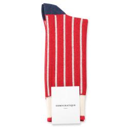 Democratique Socks Originals Originals Full Latitude Stripes 6-pack Off White / Light Rosso / Shaded Blue