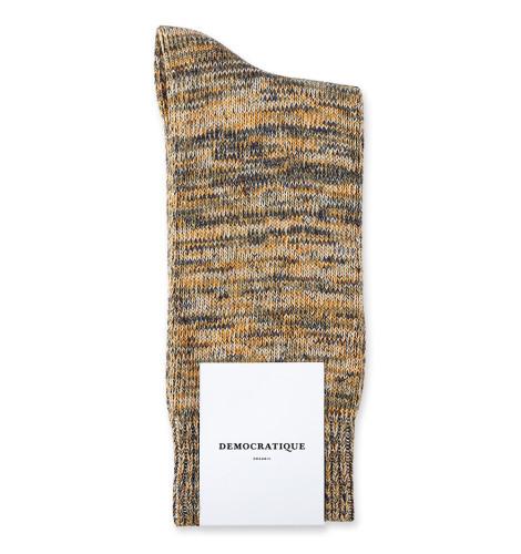 Democratique Socks Relax Chunky Flat Knit Supermelange 6-pack Soil / Off White / Soft Orange / Shaded Blue
