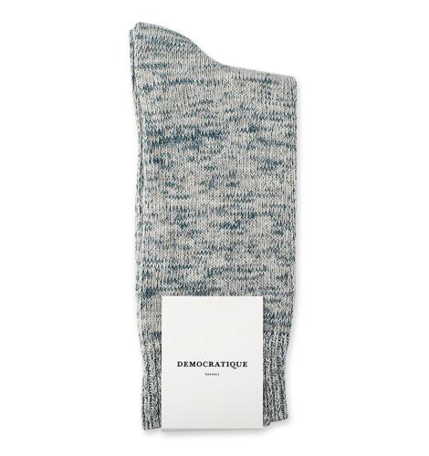 Democratique Socks Relax Chunky Flat Knit Supermelange 6-pack Soft Grey / Benzin / Off White / Stone