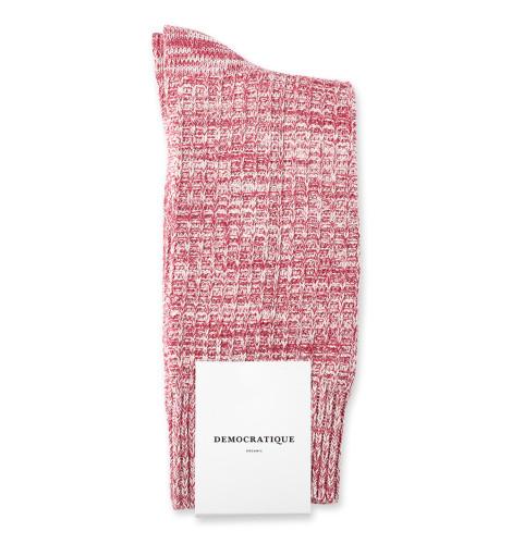 Democratique Socks Relax Waffle Knit Supermelange 6-pack Light Rosso / Pale Pink