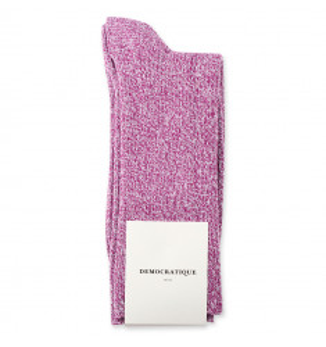 Originals Rib Ultralight Supermelange Dark Pink/Off White 6-pack