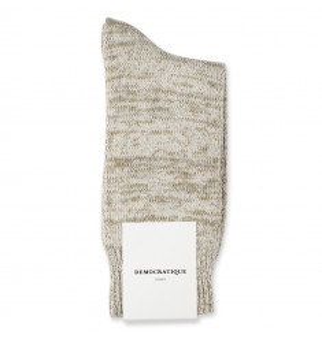 Democratique Socks Relax Chunky Flat Knit Supermelange 6-pack Off White / Soil / Soft Grey