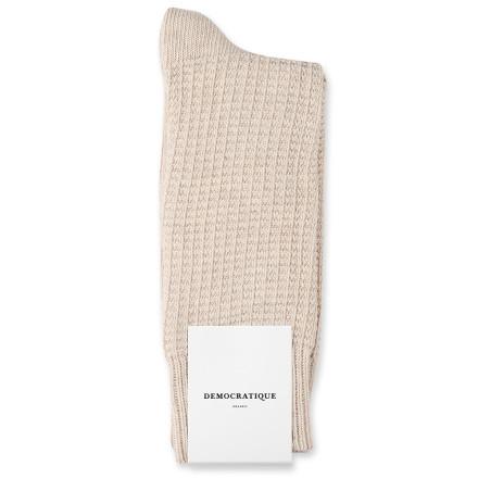 Democratique Socks Relax Waffle Knit Supermelange 6-pack Vanilla Melange