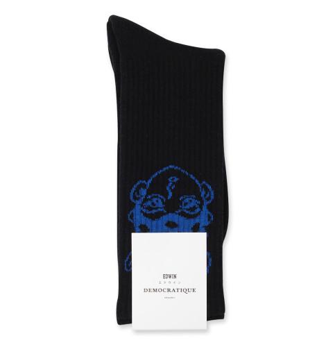 Edwin Jeans x Apollo Thomas x Democratique Socks Athletique Classique Black / Henri Blue