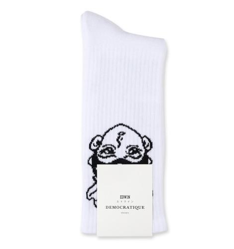 Edwin Jeans x Apollo Thomas x Democratique Socks Athletique Classique White / Black