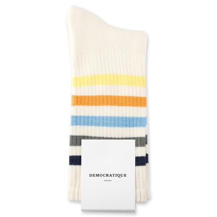 Democratique Socks Athletique Classique 80s Rib 6-pack Light Grey Melange / Off White