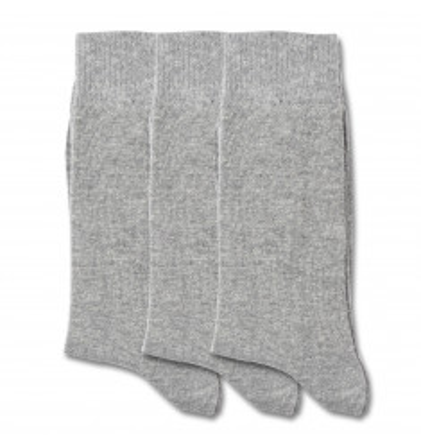 Democratique Socks ORIGINALS SOLID 3-pack Light Grey Melange